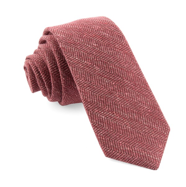 Bhldn Threaded Zig-Zag Black Cherry Tie