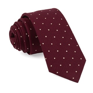 mumu weddings - dotted retreat merlot ties