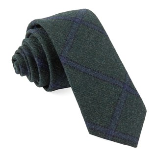 barberis wool scoldo green ties