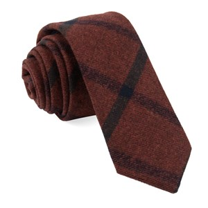 barberis wool mosso red ties