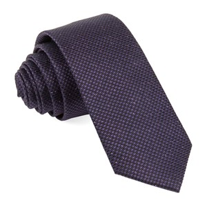 five star solid eggplant ties