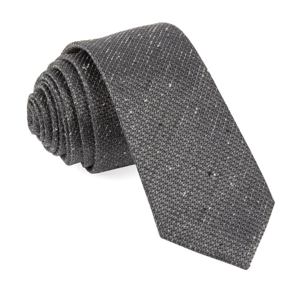 Grey Five Star Solid Tie