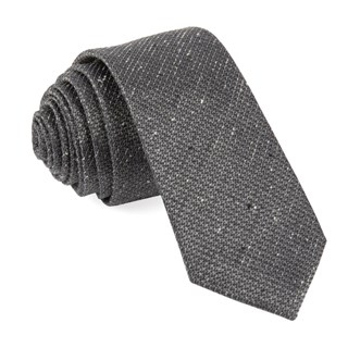 five star solid grey ties