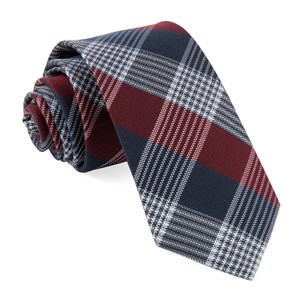 oxford plaid burgundy ties