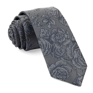 ritz floral grey ties