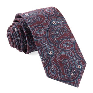 tailored paisley red ties