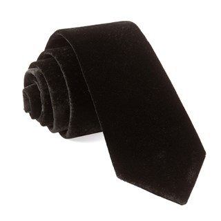 formal velvet black ties