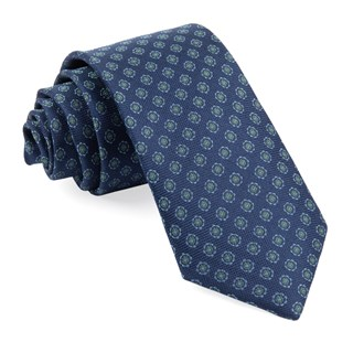 Medallion Cruise Navy Tie
