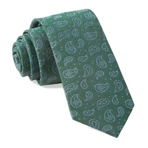 paisley riot hunter green ties
