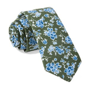 walnut street floral hunter green ties
