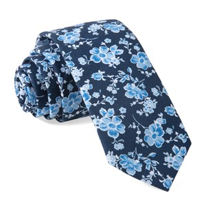 walnut street floral navy ties