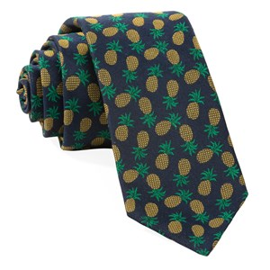 pineapple fruit navy ties