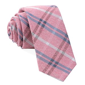 plaid drift pink ties