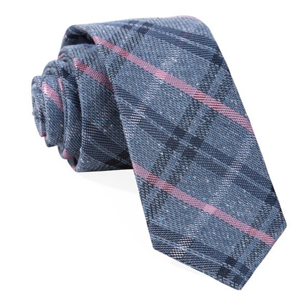 Navy Plaid Drift Tie