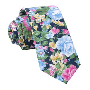 roam floral navy ties