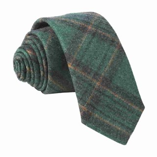 barberis wool allegro green ties