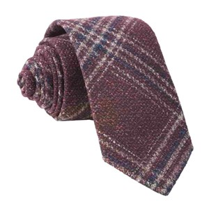 barberis wool autunno burgundy ties