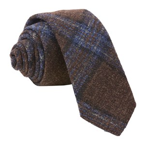 barberis wool maschile brown ties