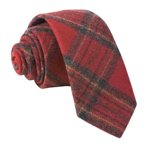 barberis wool natale red ties
