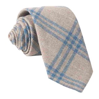 Barberis Wool Neutro Oatmeal Tie