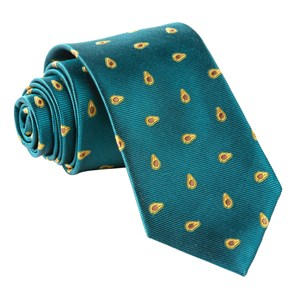 avocados green teal ties