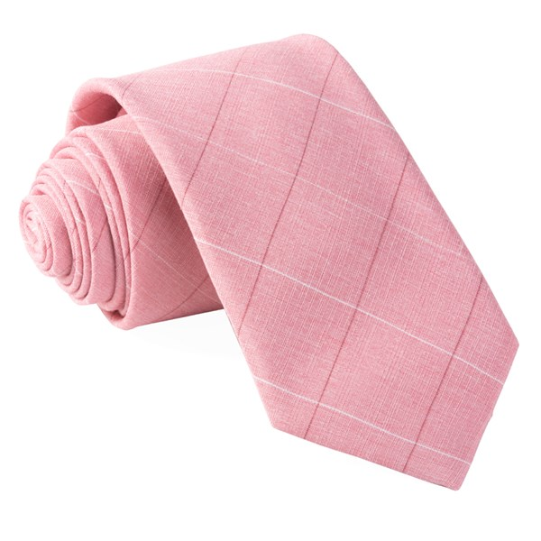 Pink Daybreak Checks Tie