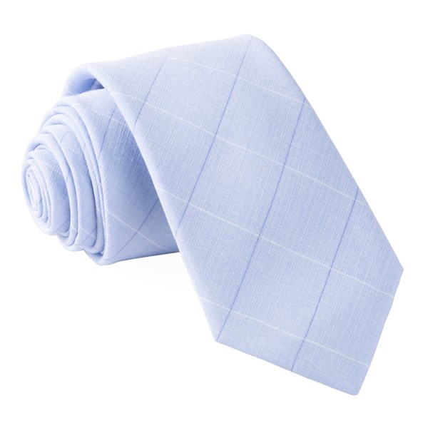 Light Blue Daybreak Checks Tie