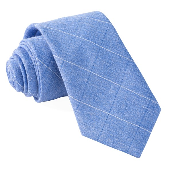 Blue Daybreak Checks Tie