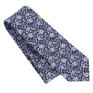 freesia floral charcoal ties