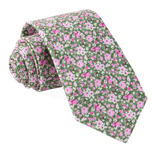 freesia floral olive ties