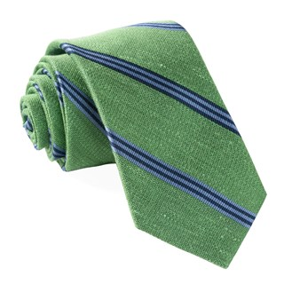 topside stripe green ties