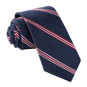 topside stripe navy ties
