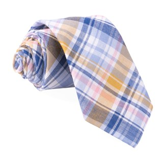 Plaid Umbra Light Blue Tie