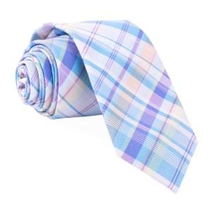 raditation plaid light blue ties