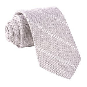 silver stripe light champagne ties
