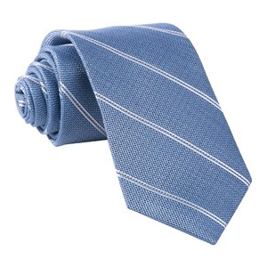 silver stripe classic blue ties