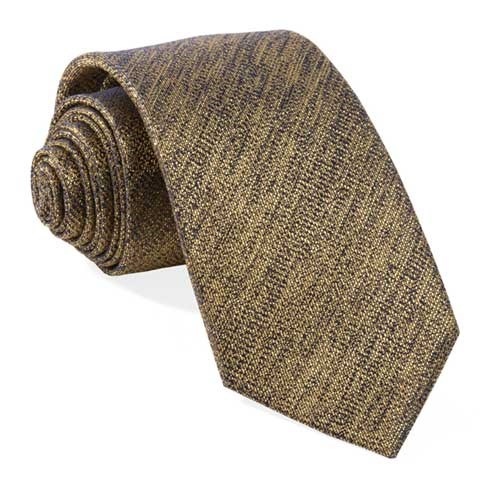 Gold Solid Fortune Tie