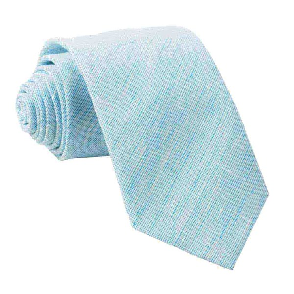 Turquoise Serenity Solid Tie