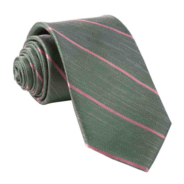 Olive Green Summer Rays Tie