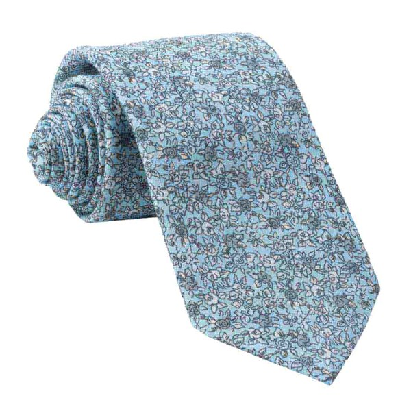 Light Blue Wild Rosa Tie
