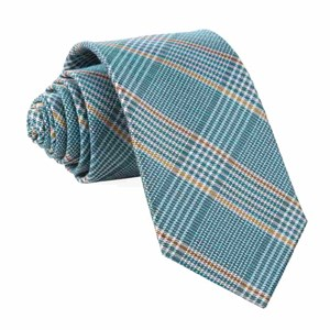 bay plaid teal ties