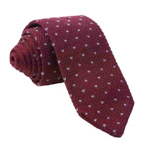birdseye knit burgundy ties