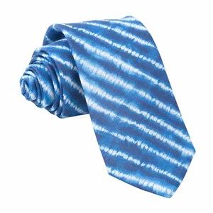 day dreamer stripe navy ties