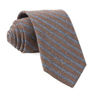 low tide stripe brown ties