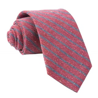 low tide stripe raspberry ties