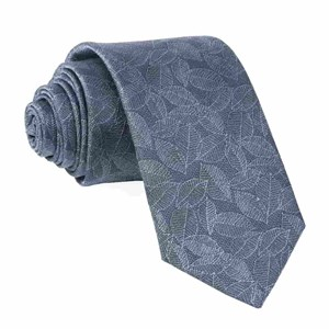 tonal leaf slate blue ties