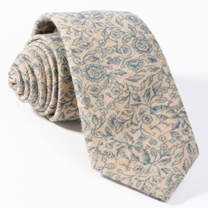 brushed cotton floral doodles champagne ties