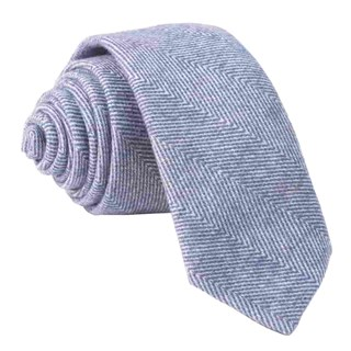 brushed cotton herringbone classic blue ties