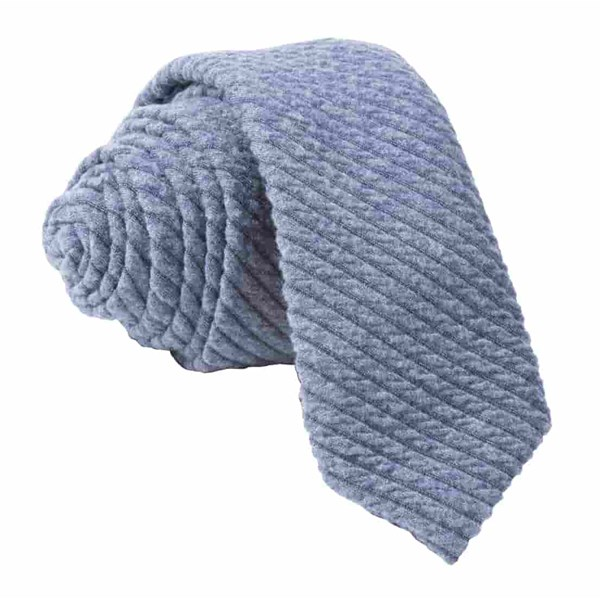 Slate Blue Quilted Knit Tie