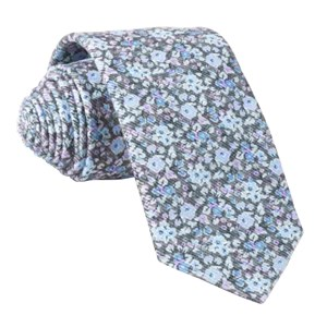 corduroy freesia floral charcoal ties